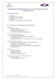 quadro de referência para a avaliação de escolas e agrupamentos