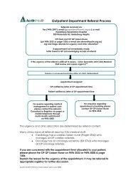 Outpatient Department Referral Process - Austin Health