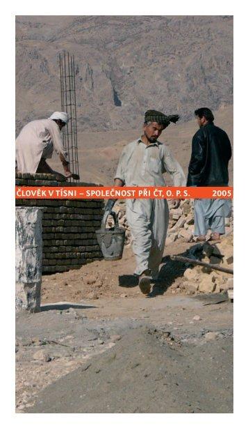 Výroční zpráva 2005 - Člověk v tísni