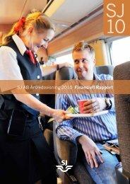 SJ AB Årsredovisning 2010 Finansiell Rapport