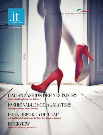 italian fashion defines luxury - Italy-America Chamber of Commerce ...
