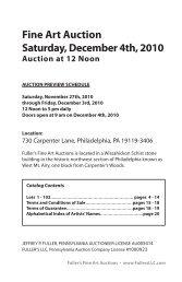 December 4, 2010 Fine Art Auction Catalog - Fuller's Fine Art Auctions