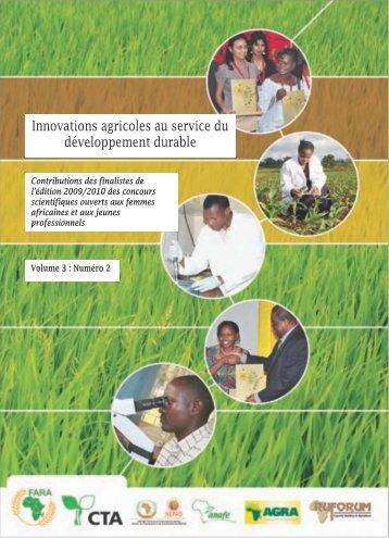 Innovations agricoles au service du développement durable