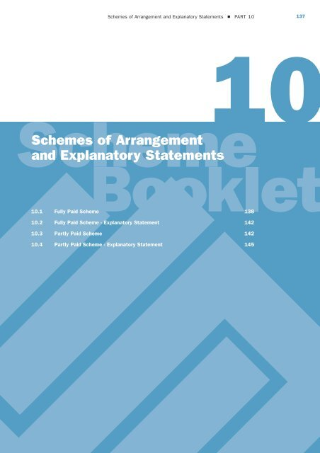Schemes Of Arrangement And Explanatory Statements