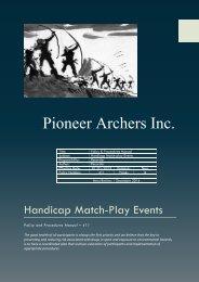 Handicap Match-Play Events - Pioneer Archers