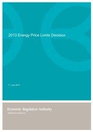 2013 Energy Price Limits Decision - ERA Economic Regulation ...