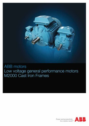 Low voltage general performance motors M2000 ... - ABB - ABB Group