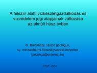 A felszín alatti vízkészlet-gazdálkodás és vízvédelem jogi alapjainak ...