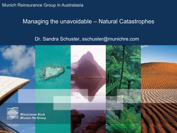 Natural Catastrophes - National Climate Change Adaptation ...