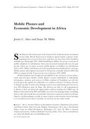Mobile Phones and Economic Development in Africa - Tufts University