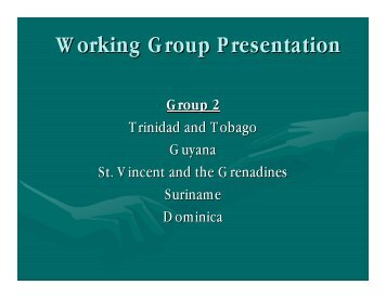 Working Group Presentation GROUP 2 - cicad