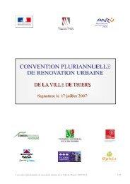 Convention Pluriannuelle de Rénovation Urbaine - Thiers