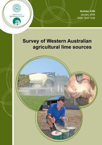 Survey of Western Australian agricultural lime ... - Wheatbelt NRM