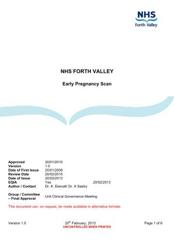 EPAS Scan - NHS Forth Valley