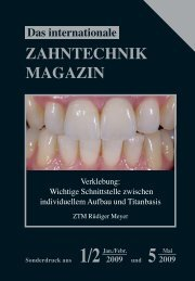 ZAHNTECHNIK MAGAZIN - Wieland Dental