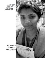 Rapport annuel 2003-2004 ( PDF - 964.3 ko ) - AQOCI