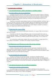 Chapitre 3 - Humanisme et Renaissance - Lyceedadultes.fr
