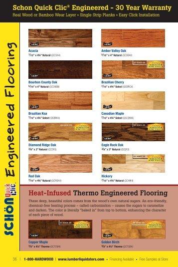 Schön Quick Clic Engineered Catalog Page - Lumber Liquidators