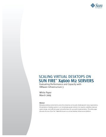Sun Fire X4600 scalability brief - Computerworld
