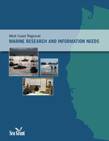 marine research and information needs - Oregon Sea Grant ...
