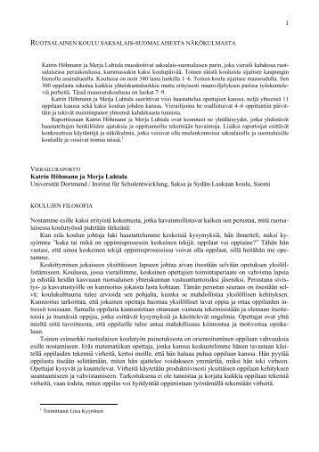 1 Katrin Höhmann ja Merja Luhtala Universität ... - Eu-mail.info