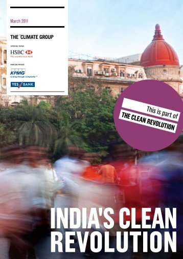 IndIa's Clean RevolutIon - The Climate Group