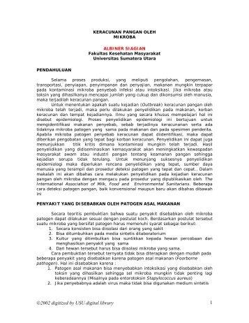 keracunan pangan oleh - USU Library - Universitas Sumatera Utara