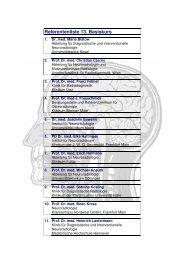 Referentenliste 13. Basiskurs - Basiskurs Neuroradiologie