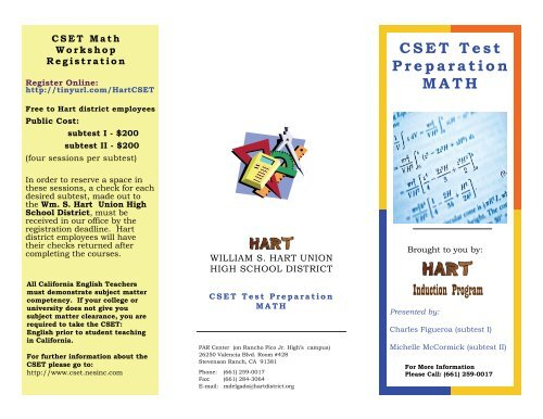 Induction Program - Hart BTSA - William S  Hart Union High