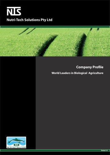 Company Profile.indd - Nutri-Tech Solutions