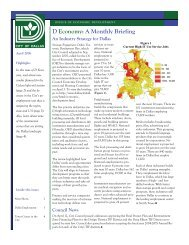 April 2006 D Economy - Dallas Office of Economic Development