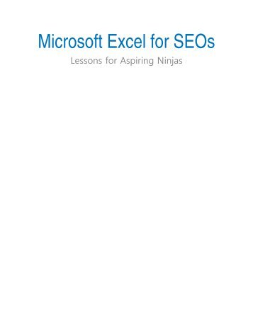 Microsoft Excel for SEOs - Distilled