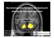 Neurobiologische Korrelate der Spielsucht ... - Sucht und Drogen