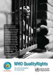 WHO QualityRights - World Health Organization