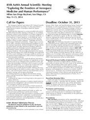 Read the full Call for Papers here. - Aerospace Medical Association