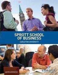 SPROTT SCHOOL OF BUSINESS - Carleton University
