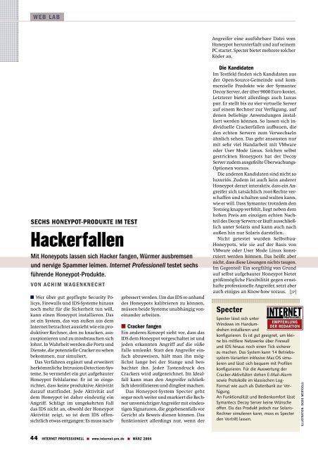 Honeypot - Wagenknecht, Achim