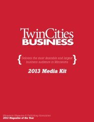 2013 Media Kit - Twin Cities Business