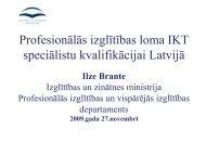 Profesionālās izglītības loma IKT speciālistu kvalifikācijai ... - LIKTA