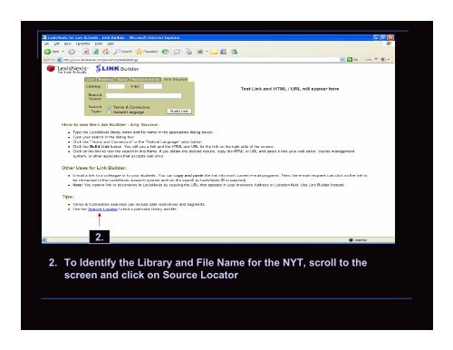Creating a Link to a Document in LexisNexis