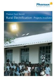 Track Record Off-Grid Rural Projects - Phaesun