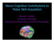 Neuro-Cognitive Contributions to Motor Skill Acquisition