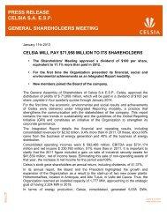press release celsia saesp general shareholders meeting