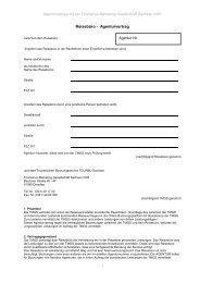 Reisebüro - Agenturvertrag