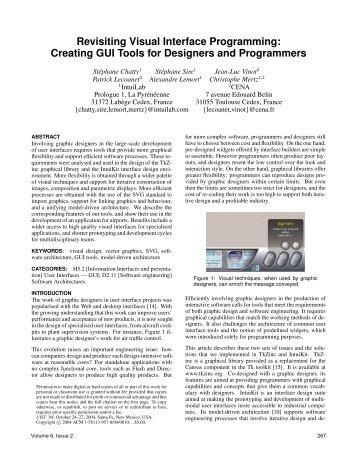Revisiting Visual Interface Programming: Creating ... - La Recherche