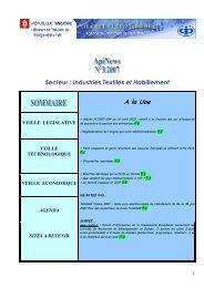 Secteur : Industries Textiles et Habillement - Tunisian Industry Portal