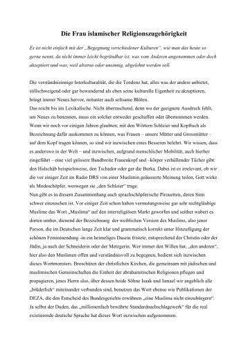 Die Frau islamischer Religionszugehörigkeit.pdf - Dr. Hartmut ...
