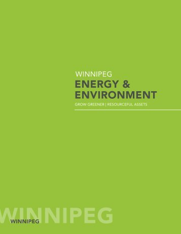 ENERGY & ENVIRONMENT - Economic Development Winnipeg