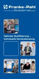 Optimale Qualifizierung – individuelle ... - Franke + Pahl