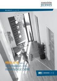ADVANCE-LINE prisliste indvendige - Jeld-Wen